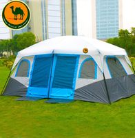 2019 2 Bedroom 1 Living Room 6 8 10 12 Person UV Waterproof Self Driving Hiking Beach Relief Family Party Outdoor Camping Tent