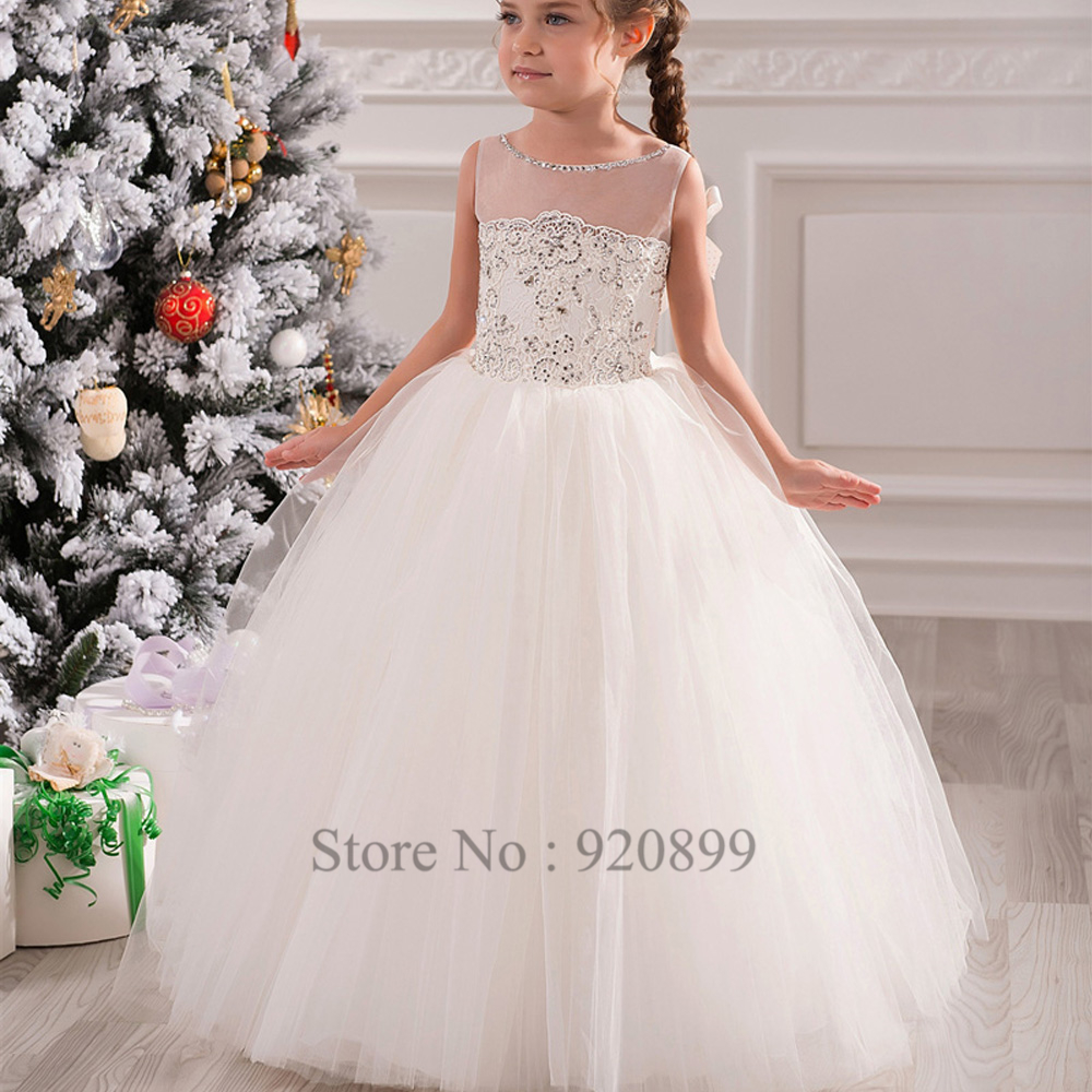 Vestidos infantil 2016 dentelle tulle princesse robe de for Aliexpress robes de mariage