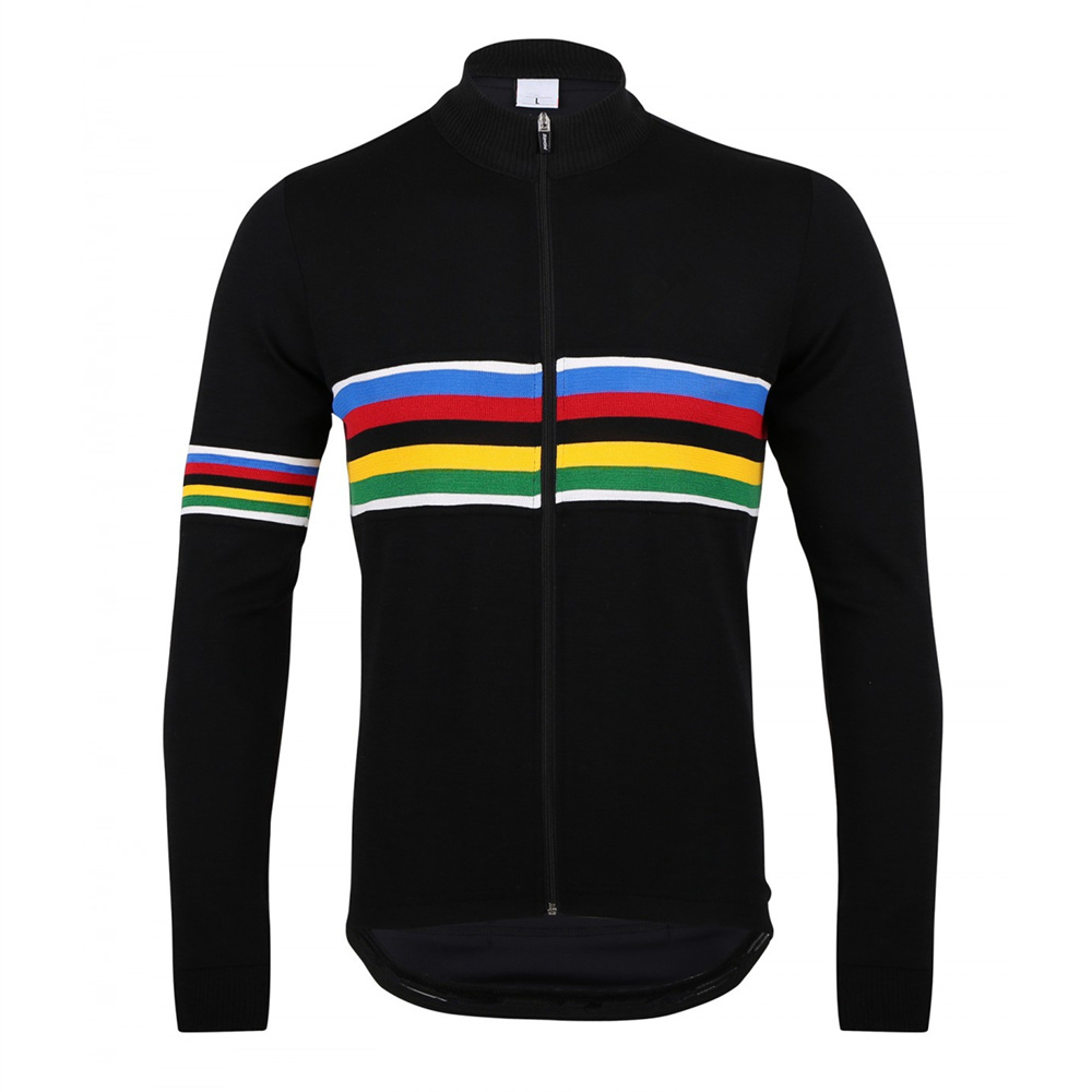 UCI Cycling Jersey Black Long Sleeve Bicycle Jerseys Maillot Ciclismo font b Men s b font