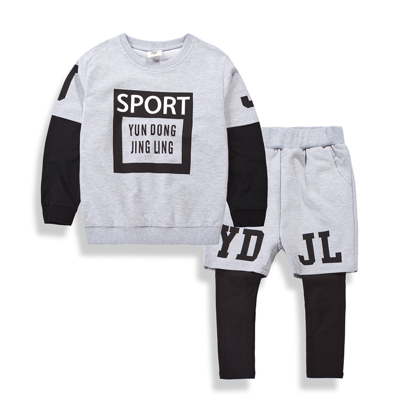 Fashion New Baby Boy Clothing Sets Spring Autumn Kids Suits Cotton Long Sleeve Sweatshirts + Pants 2pcs Children Clothes Sets