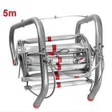 New 5M High Quality Fire Rescue Equipment Aluminum Alloy Wire Rope Life-saving Ladder Escape Rope Ladder to Safety Self-help