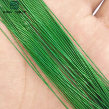 Easy Catch 50pcs Green Nylon Coated Stainless Steel Fishing Line Wire Leaders 20cm 25cm Trace Fishing Steel Wire