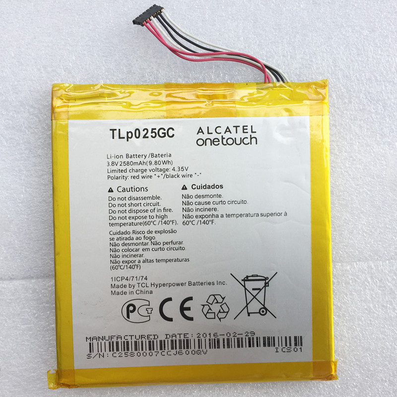 100% New High Quality 2580mAh TLp025GC For Alcatel One Touch Pixi 4 (7) 3G 9003X 9003A Cell Phone Battery image