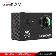 оригинал GEEKAM S9 Экшен камера 4к 1080P камера на шлем фотоаппарат go pro стиль eken h9 стиль спорт видео камеры видеокамера водонепроницаемый камера