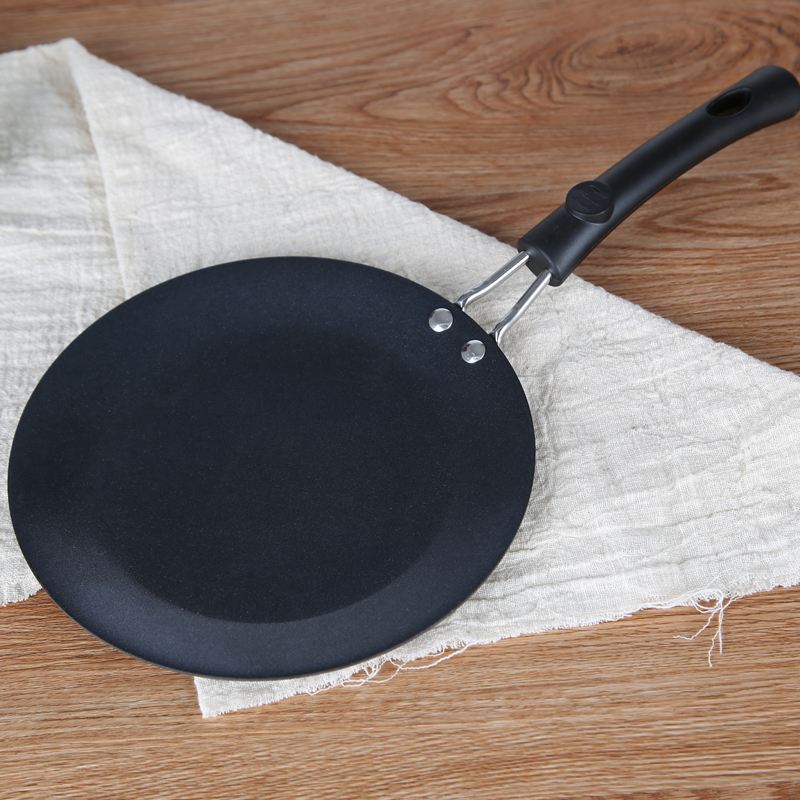 30CM Wrought Iron Nonstick Pancake Griddle Breakfast Egg Omelette Crepe Pan BBQ Steak Meat Grill Roasting Plate Kitchen Cookware