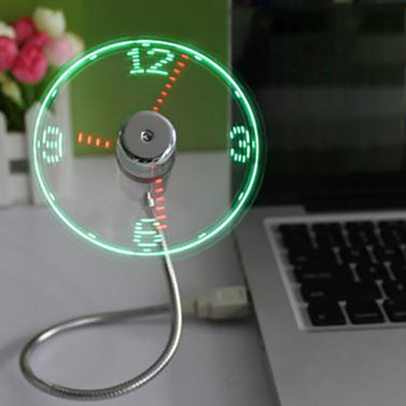 Usb Fan Can Display Time Temperature Color Creative Portable Mini Fan Rotate The Page Use for Home Office color for painters page 8