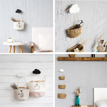 Popular 1 Rabbit/Beard/Cloud Wall-mounted Hooks DIY Wooden Hanger Wall Decoration Kids Room Supplies