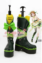 New Arrival Love Live Valentine's day Hanayo Koizumi Cosplay Boots Custom Made Shoes