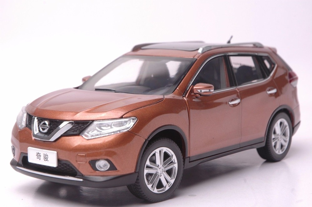 buy 1 18 diecast model for nissan x trail 2014 gold suv alloy toy car. Black Bedroom Furniture Sets. Home Design Ideas