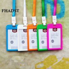FHADST 2017 Id card holder Retractable Reel Lanyard Name Plastic Credit Card Holders Bank Card Neck Strap holders Identity badge