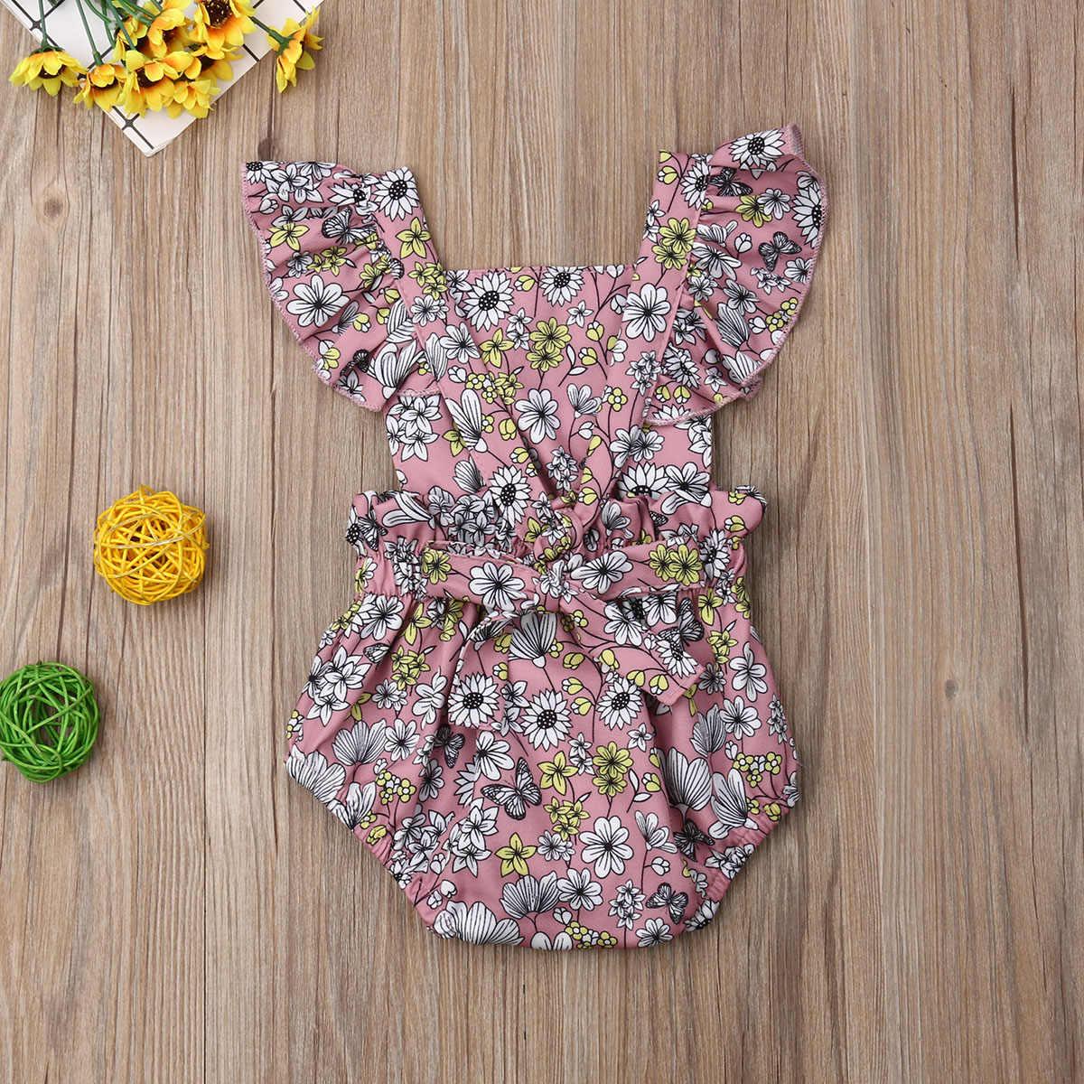 Pasgeboren Kids Baby Meisjes Grote Zusje Bijpassende Outfits Schattige Prinses Bloem Peuter Meisjes Mouwloze Jumpsuit Romper Outfits