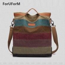 Frauen Striped leinwand Handtasche Schulter Umhängetasche Mode-Trend Freizeit Allgleiches Chic Einfache taschen-GL139