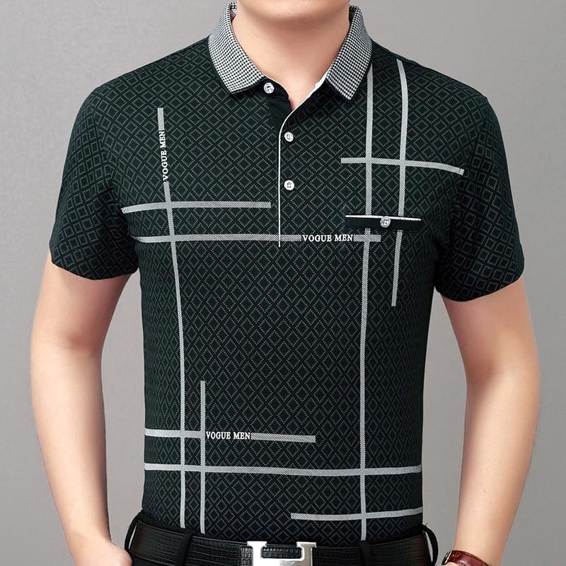Mutter & Kinder Neue Sommer Polo Shirt Männer Kurzarm Polos Shirts Linie Slim Fit Herren Pol Kleidung Kleid Bodybuilding Streetwear Polo 519