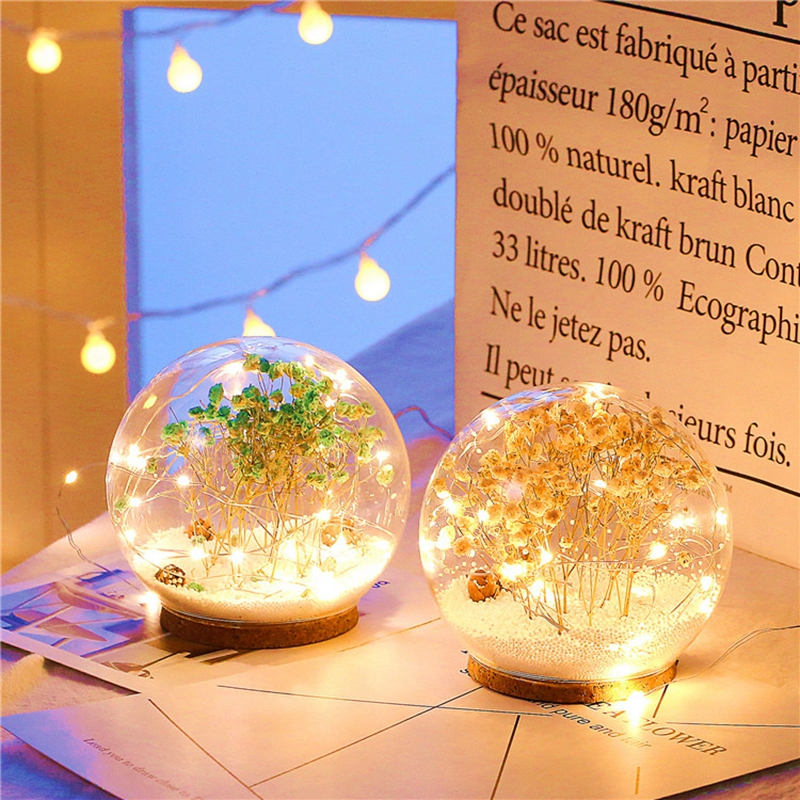 Creative LED Crystal Ball Design Table Lamp Room Decor Bedside Night Light For Girls Baby New Year Christmas Birthday Gift (8)