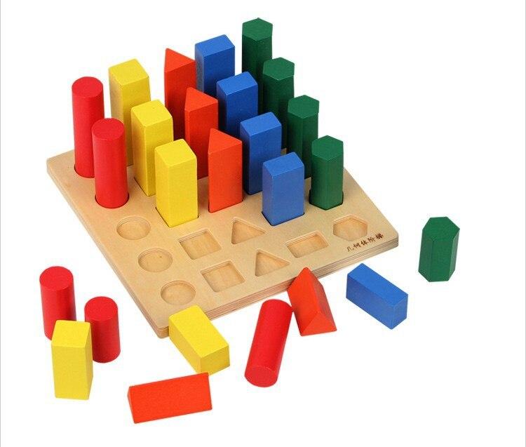 Jouets éducatifs pour enfants blocs de construction géométriques blocs de construction jouets pour bébé