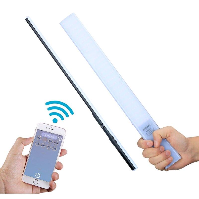 Ulanzi Yongnuo YN360S LED Video Light Handheld Ice Stick LED Video Light 3200k to 5500k Controlled by Phone App Fill Light Stick rock rot0770 selfie stick night led fill light blue