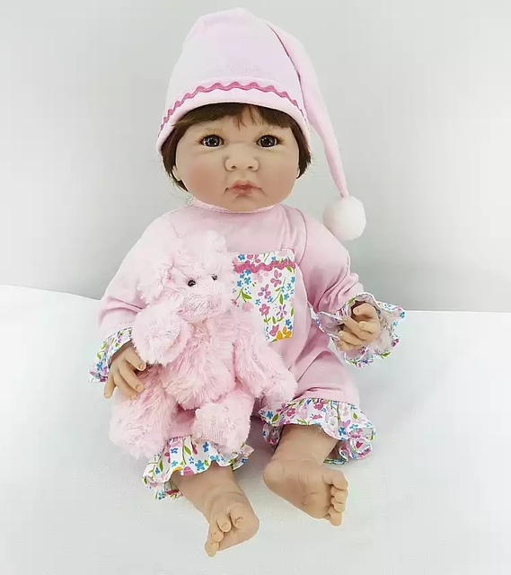 35cm Silicone Body Reborn Baby Doll Toy 14inch Mini Vinyl Princess Girl Babies Bebe Doll Birthday