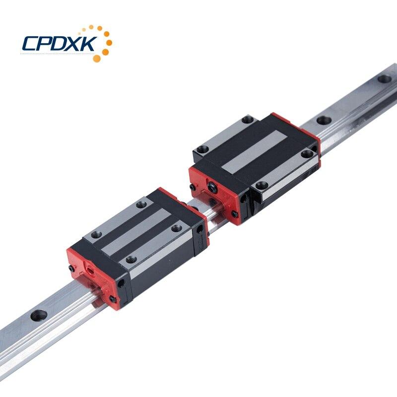 Rail de guidage linéaire et ensembles de chariot HG15 rail linéaire 1000mm 1 pc et HGH15/HGW15CC 1 pc