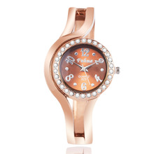 2016 New hot sell popular designer rhinestone watch Fashion women quartz watches rose gold ladies Bangle Watch relogio feminino