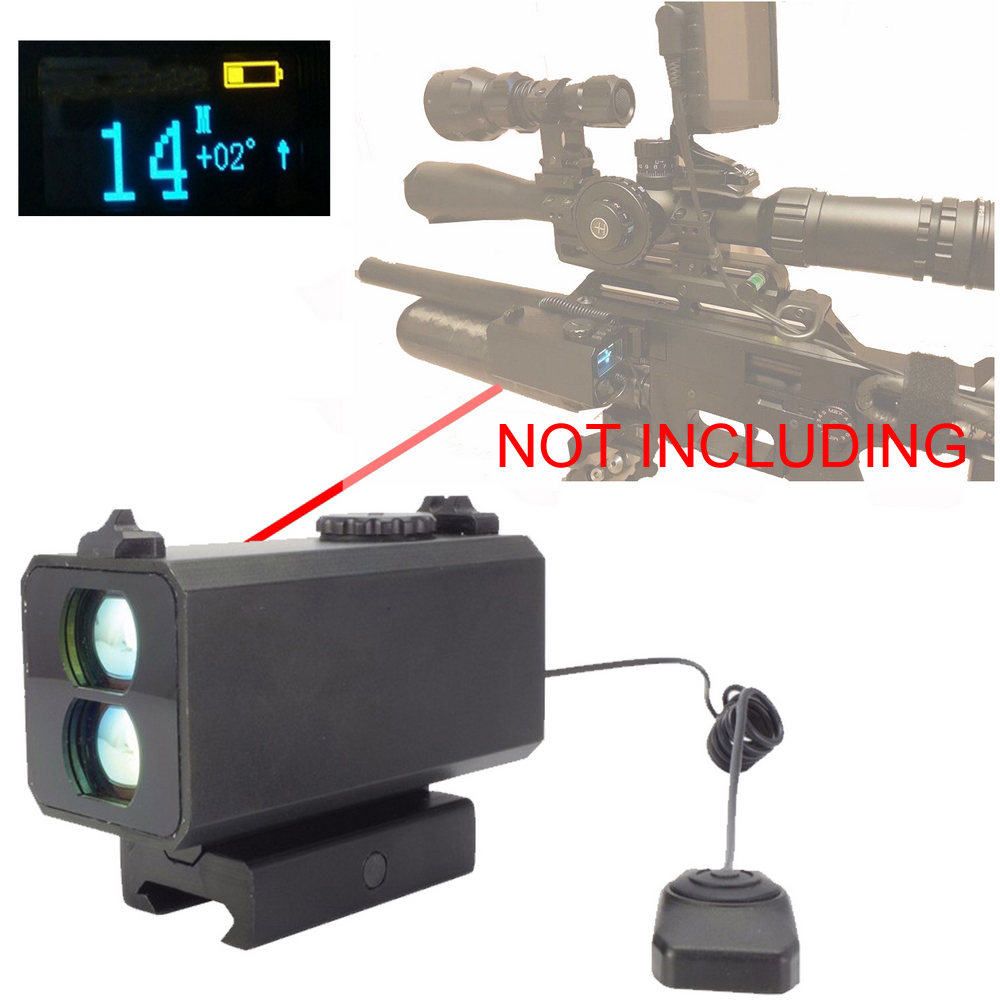 700m Mini Laser font b Rangefinder b font Speed measure Riflescope laser sight Rifle Scope Mate