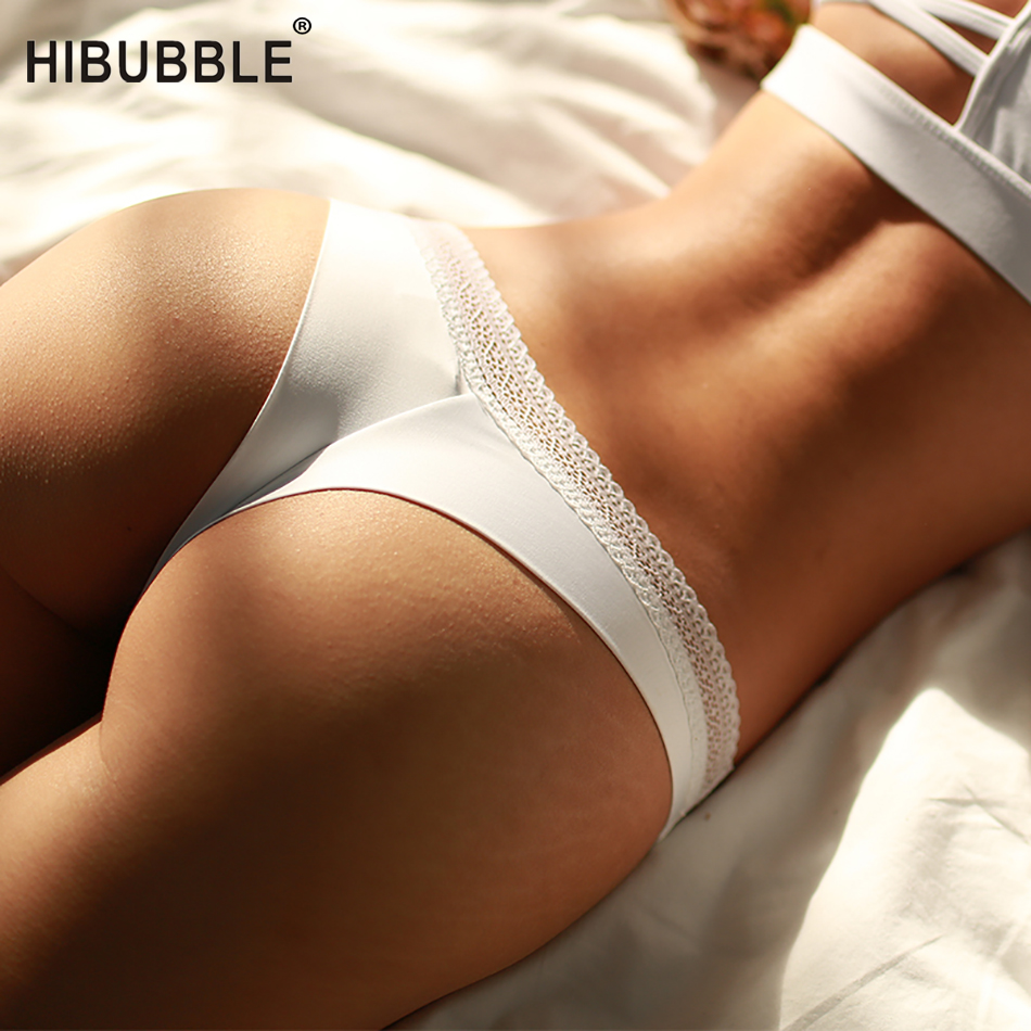 Hibubble Lingerie Sexy Cotton Panties For Women String Thongs Solid Seamless G-String