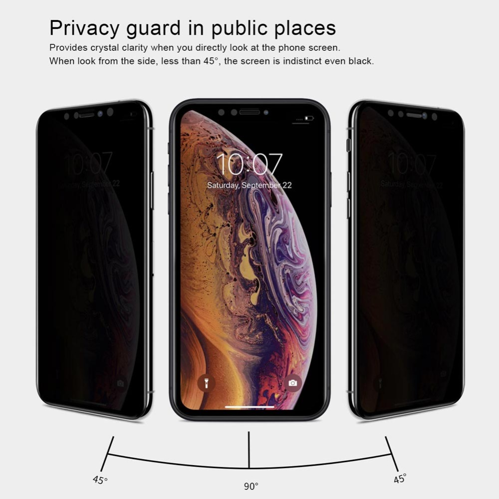 Nilkin για iPhone Xr Anti Spy Tempered Glass Nillkin 3D AP + Max - Ανταλλακτικά και αξεσουάρ κινητών τηλεφώνων - Φωτογραφία 5