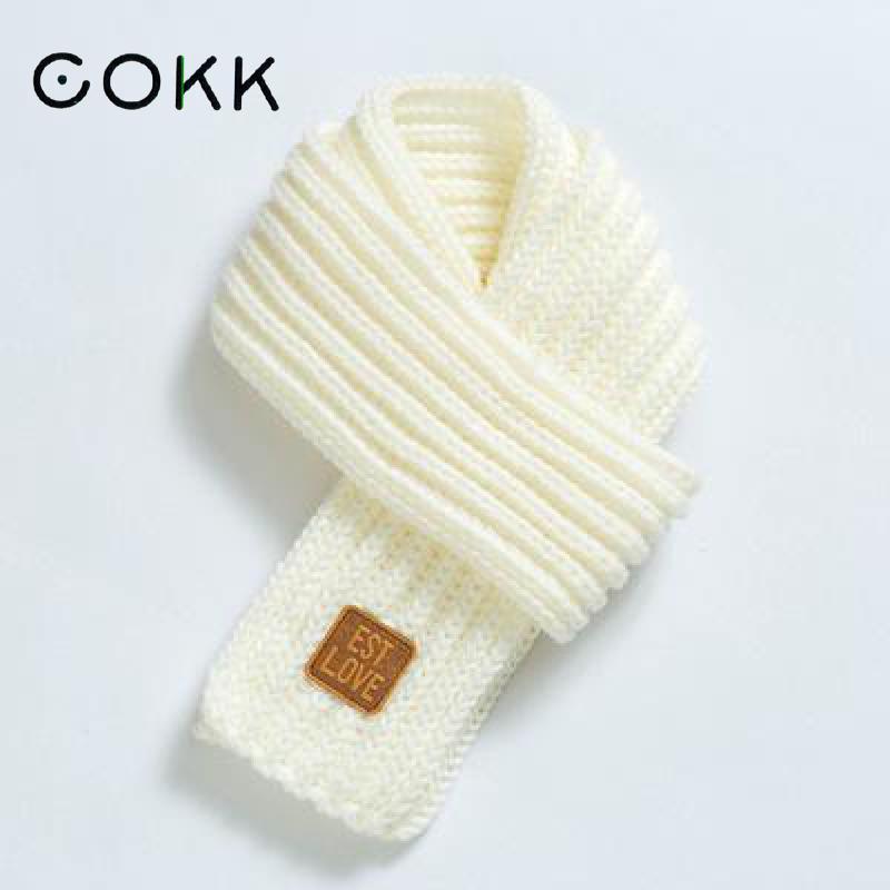 COKK Kids Scarf Boys Girls Baby Winter Warm Scarf Women Knit Shawl Scarf Children Neck Collar Keep Warm Accessories Cheap Parent