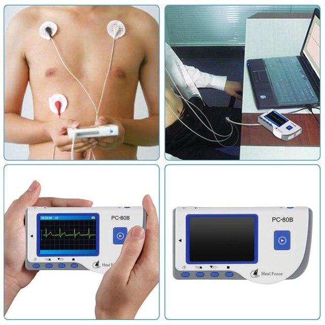 Health Care Ce Easy Handheld Ecg Ekg Portable Mini Pc-80b Lcd Heart Ekg Monitor Continuous Measuring Function Usb