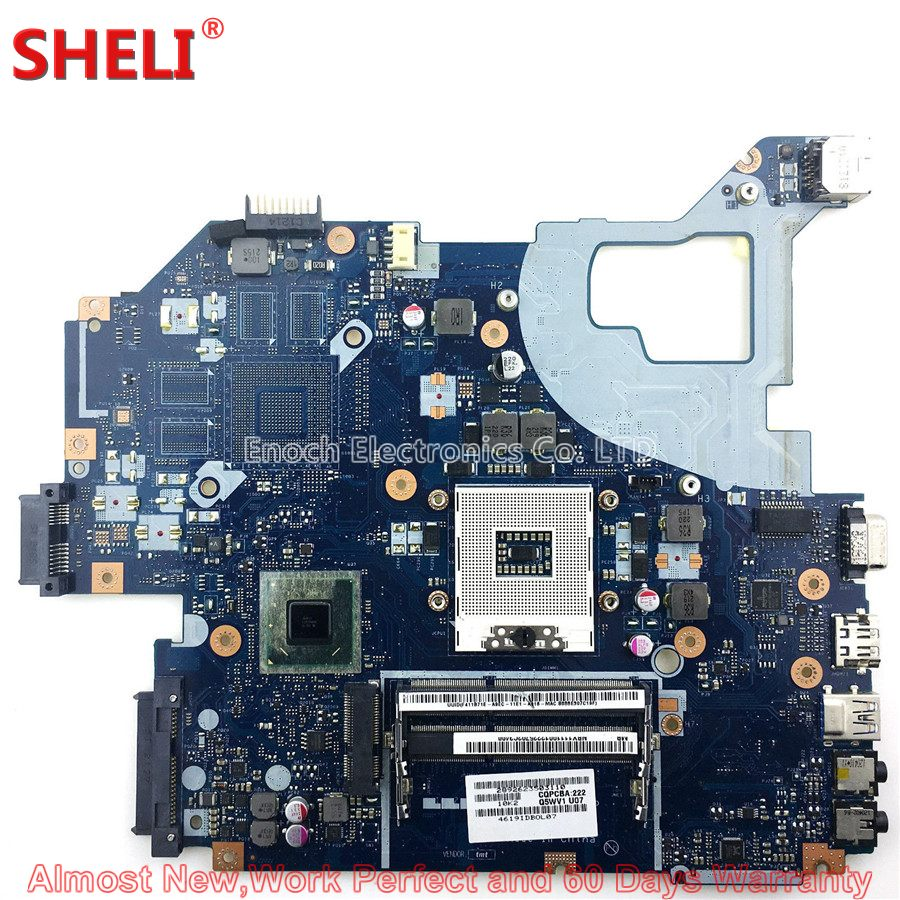 SHELI For Acer Aspire V3-571 V3-571G Series Laptop Motherboard NBY1111001 NB.Y1111.001 Q5WVH LA-7912P HM77 Work Perfect wholesale for acer aspire one 756 2623 laptop intel motherboard la 8941p nbsh011003 100% work perfect