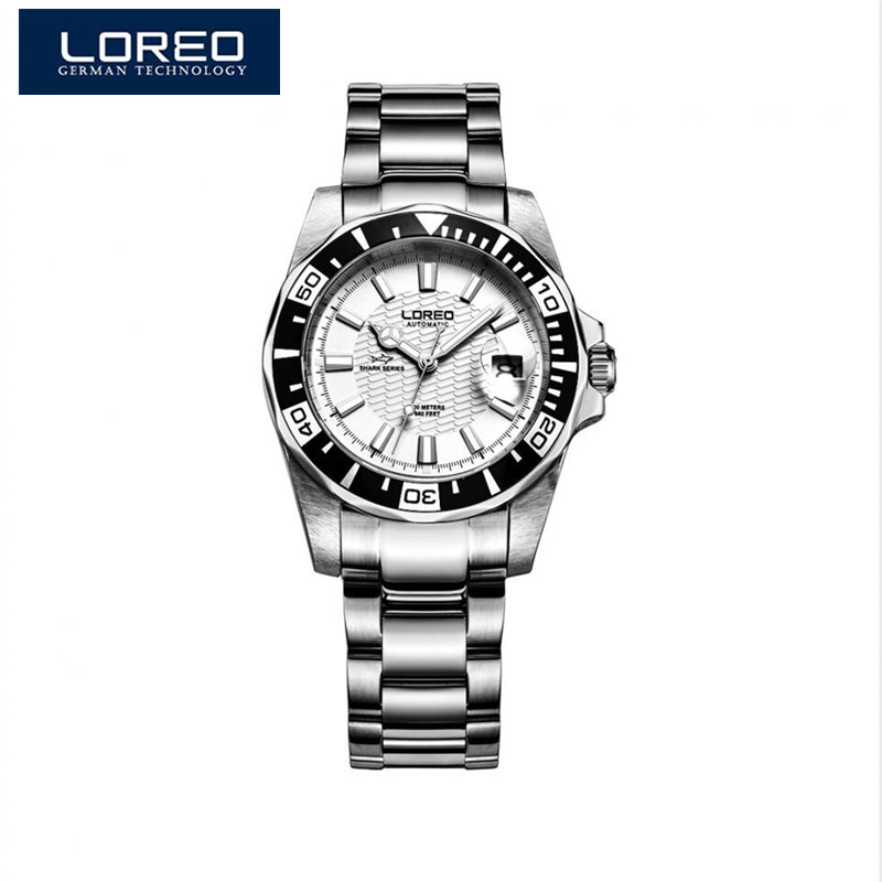где купить LOREO Original Men Mechanical Watches Men Luxury Brand Full Steel Waterproof 200m Business Automatic Wristwatches For Men A50 по лучшей цене