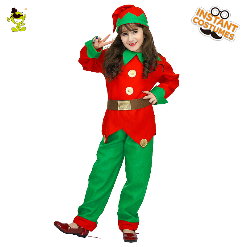 Hot sale Santa Claus Kids girl Uniform Christmas Party costumes Santa Claus for kids girl Uniform Xmas costume