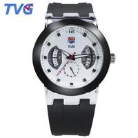 Top marca de lujo TVG relojes hombres 30 m waterpfoof silicona reloj de cuarzo masculino F1 Relojes deportivos hombres Relogio Masculino