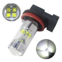 2 X 12SMD H16 100W 2400LM 6000K White Fog Light Running LED Bulbs