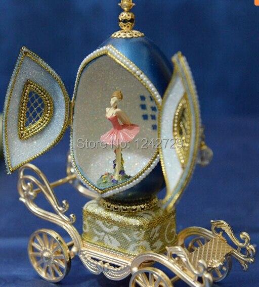 Boîte à musique oeuf cadeau créatif présent princesse amour fille boîte à musique boîte à musique coquille d'oeuf conception de mariage livraison gratuite