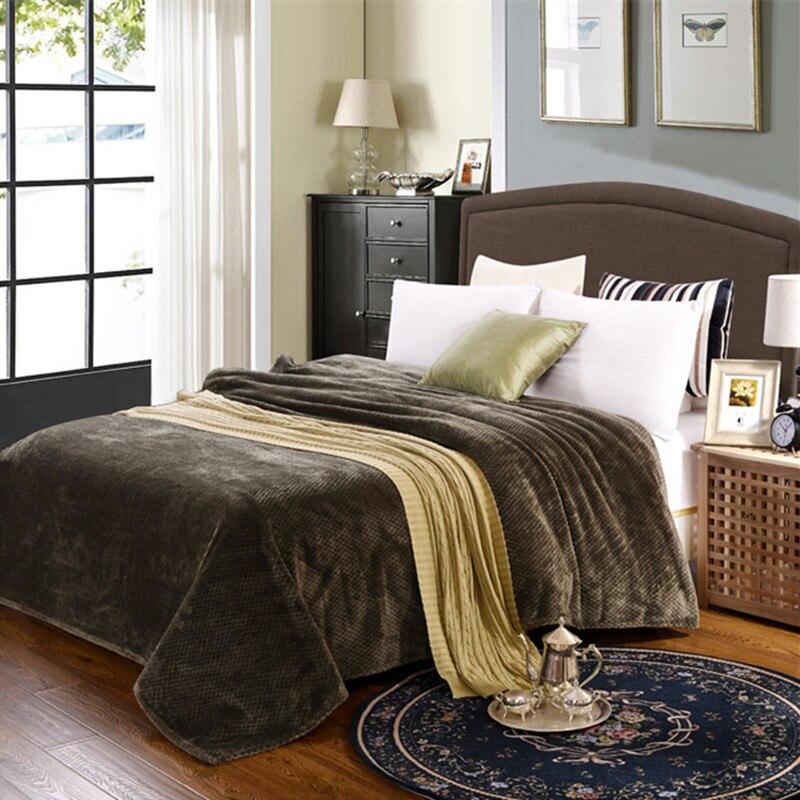 Online Get Cheap Plaid Fleece Blanket Aliexpress Com