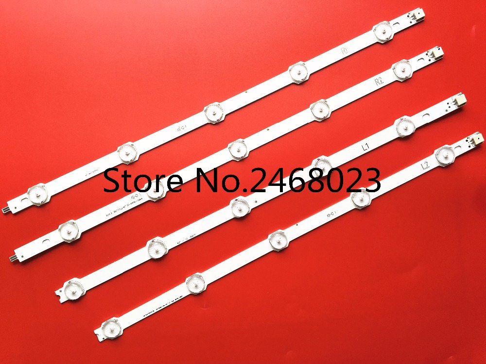 4 Pieces/lot New LED strip for 6916L-1412A 6916L-1413A 6916L-1414A 6916L-1415A,6916L-1217A/1216A/1215A/1214A new kit 4 pcs for lc320dxn se r1 led strip 6916l 1030a 6916l 1031a 6916l 0923a 6916l 0881a 9 leds 650mm