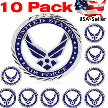10 Pack US Air Force Core Values Challenge Coin Silver Plated USAF Collectible
