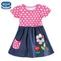 Meninas vestir roupas meninas novatx crianças tutu princesa vestidos para meninas festa à noite bolinhas crianças vestido de verão meninas h5748