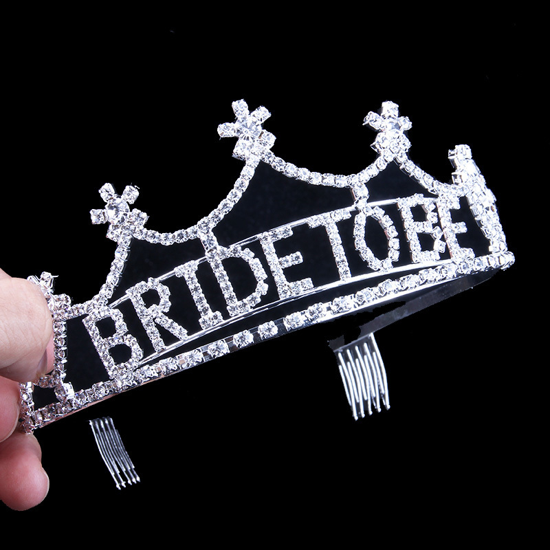 StoneFans Bridal Tiaras And Crowns For Women Rhinestone Wedding Comb Bride To Be Head Crowns Pageants Cute Hair Accessories