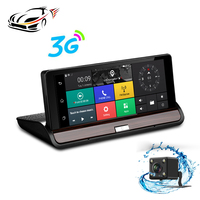 New 3G 7 Inch Car GPS Navigation Bluetooth Android 5 0 Navigators Dual Lens Recorder Automobile