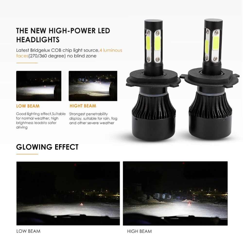 Oslamp 4 Side Luminous H4 H7 H11 9005 9006 COB 100W 10000LM Car LED Headlight Bulbs 6500K Led Auto Headlamp LED Lights 12v 24v