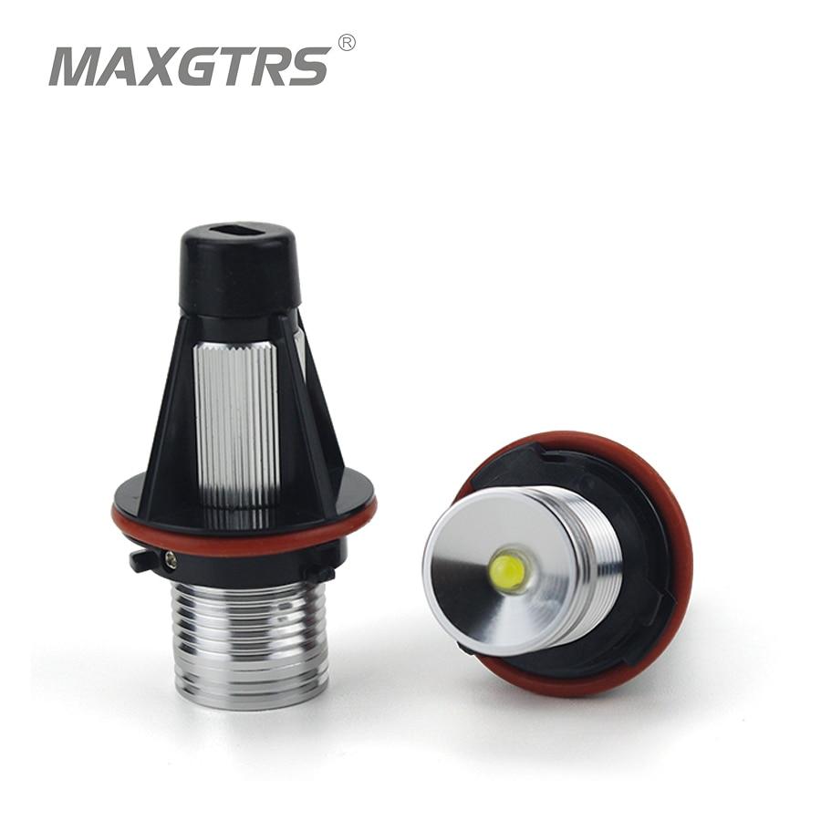 2 x3W 6W Bridgelux Chip LED Marker Angel Eyes DRL 7000K White For BMW E39 E53 E60 E61 E63 E64 E65 E66