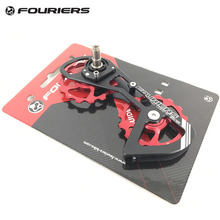Fouriers Ceramic Rear Derailleur Cage Big Pulley Jockey Road Bike Drivetrain Oversize Double 15T For 5800 105