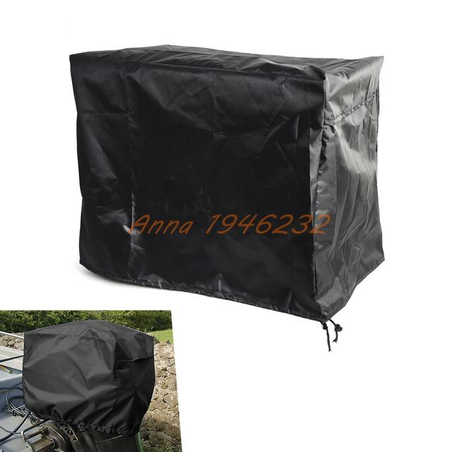 Waterproof & Vented Outboard Motor Boat Engine Cover 2-15 HP Size2 Navy Blue