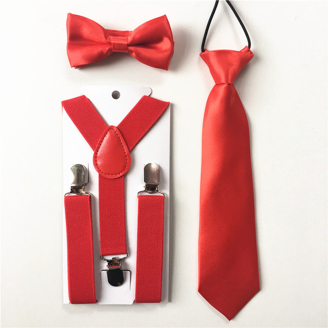 7ada81fd556 New Design Girls Toddlers Bow Tie Necktie Kids Boys Suspenders Bowtie Set  Elastic Adjustable School Party Clothing Accessories B