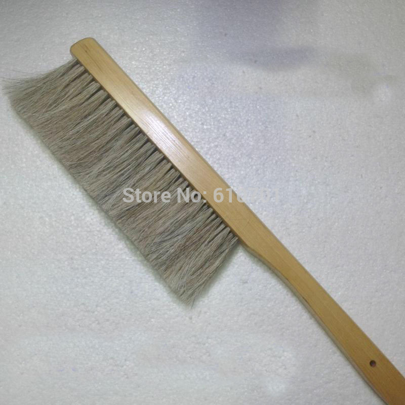 1PCS Natural Beekeeping Bee Hive Brushes long wooden handle Three Rows of Bee Flicking Horsetail Bee комплектующие для кормушек beekeeping 4 equipment121mm 91 158