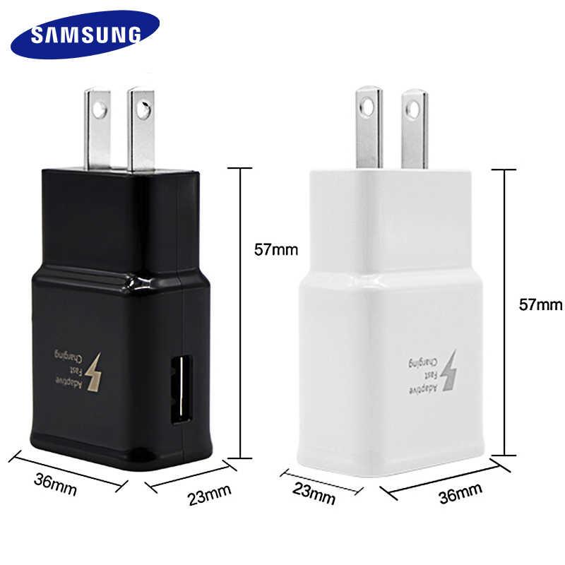 Samsung Galaxy S8 S9 плюс быстрое зарядное устройство 2,0 Быстрая зарядка 9 v 1.67a и 5v2a дорожный адаптер для зарядного устройства S 9 s6 s7edge Note 4 для девочек от 5 до 8 лет, для девочек от 5 до 8 лет 9