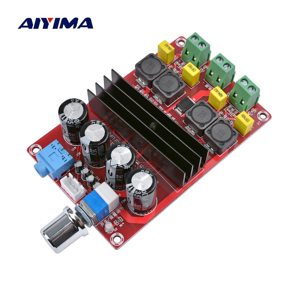AIYIMA 튜브 디지털 앰프 오디오 보드 TPA3116 전원 오디오 앰프 2.0 클래스 D 앰프 스테레오 HIFI 증폭기 DC12-24V 2 * 100W
