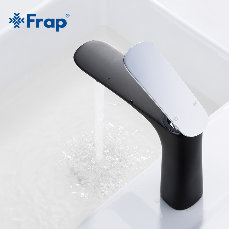 Frap New Basin Faucets Modern Bathroom Tap Brass Washbasin Faucet Single Handle Hot and Cold Water