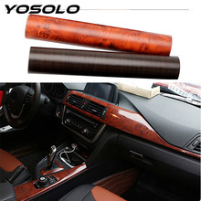 YOSOLO PVC 3D Automotive Interior Stickers Car Wrap Film Protective Stickers Wood Grain Textured Car Styling Decoration 30*100cm(China)